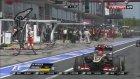 Formula 1'de şok! Lastik kameramanı ezdi!