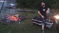 Harley Davidson ile Mangal Körüklemek