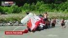 Rusya'daki Helikopter Kazası Kamerada