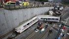 İspanya'daki Feci Tren Kazası Kamerada