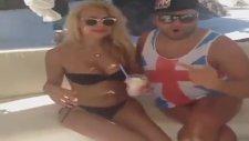 Cicişler Bodrum'da Göğüslerine Dondurma Sürdü