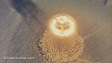Atom Bombası Patlaması Kuşbakışı Görünüm