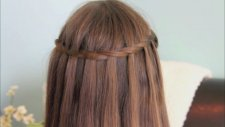 Basit Şelale Saç Modeli