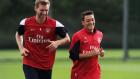 Mesut Özil Arsenal'de ilk antrenmanında!