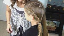 Dantel Örgü Kalp | Sevimli Kız Saç Modelleri