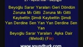 Aykut İlter - Beyoğlu - Kareoke Lyrics  (Eski Defter Albümü)