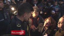 ODTÜ'de göstericiler ile polis arasında çatışma