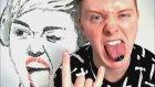 Miley Cyrus Resmini Diliyle Çizen Ressam