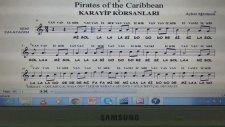 Karayip Korsanları La Minör - Pirate Of The Caribbean - Blok Flüt Melodika Notası Nasıl Çalınır