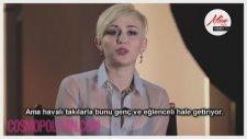 Miley Cyrus Cosmopolitan Çekimleri Kamera Arkası