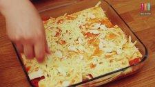 Közlenmiş Patlıcanlı Peynirli Lazanya