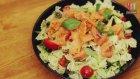 Somonlu Avokadolu Makarna Salatası