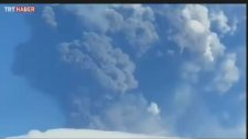 Etna Yanardağı'nın patlama anı