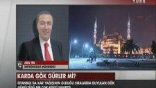 İstanbul'da Korkutan Gök Gürültülü Kar Yağışı