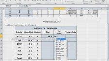 Excel Uygulaması 11