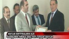 Zeka testi yapacak adaylar sertifikalarını aldılar