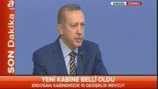 Başbakan Erdoğan Yeni Bakanları (Kabine Değişikliği) Açıkladı