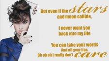 Demi Lovato - Really Don't Care (Feat. Cher Lloyd) Lyrics