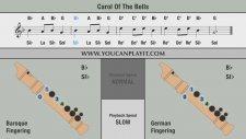 Blok Flüt Si Bemol Notası İçin Carol Of The Bells