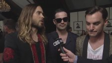56th Grammy Awards - 30 Seconds To Mars Interview