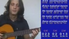 Ders Gitar Artık Sevmeyeceğim 1 Tel Mı 2 Tel Sı 3 Tel Sol 4 Tel Re 5 Tel La 6