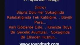 Aykut İlter -Beyoğlu Pera Kareoke Lyrics Eski Defter Albümü
