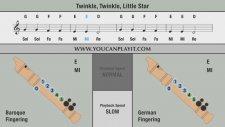 Blok FLüt Okul Yolu Twinkle Twinkle Little Star Recorder Flute Daha Dün Annemizin Mozart