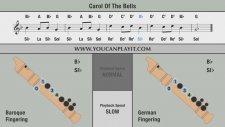 Blok Flüt Sib Notası İçin Carol Of The Bells