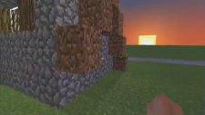 Minecraft Super Flat Steve'i Gören Masum Köylü