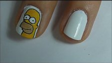 Simpsons Nail Art