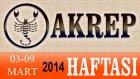 AKREP Burcu HAFTALIK (03-09 Mart 2014) Astrolog DEMET BALTACI, Bilinç Okulu, Astroloji, Burçlar