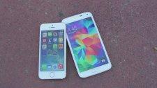 Samsung Galaxy S5 vs iPhone 5S - Dayanıklılık Testi!
