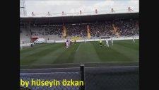 Ankaragücü - Ofspor / Selim Teberin Frikik Golü (Sol Kapalıdan Çekim)