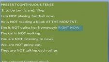 İngilizce Öğreniyorum[6]- Present Continuous Tense | Şimdiki Zaman
