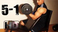 Seviye 5-1 Evde Kas Vücut Geliştirme Antrenman Hareketleri Egzersiz Programı Göğüs - Pazu - Karın