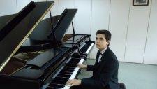 Bach Akustik Piyano İki Sesli Envansıyon Fa Mınor Akustik Grand Kuyruklu Piano Çaldı Piyanist Çağdaş