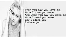 Miley Cyrus - Adore You ( Lyric)