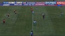 Göztepe - Kırklarelispor maçında komedi gibi bir gol