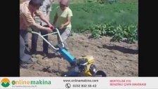 Bertolini 215 Benzinli Çapa Makinası Bayan Kullanım | www.onlinemakina.com