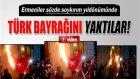 Ermeniler Sözde Soykırımın Yıldönümünde Türk Bayrağı Yaktı