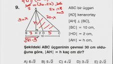 ÖSS ÖYS Soru Çözümleri - Üçgenler 2