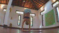 Yoga Handstand To Straight Leg Jump Through