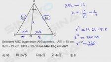 Geometri - Üçgenler Açı Ortay, Kenar Ortay Örnek Soru Çözümü.