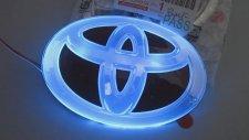Toyota Işıklı Logo Arma Amblem ŞNTden
