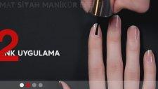 Sephora en moda tırnak uygulamaları-MAT SİYAH MANİKÜR EFEKTİ