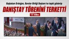 Başbakan Erdoğan Danıştay Törenini Terk Etti