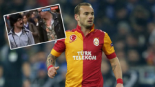 Sneijder kılık değiştirip İstanbul'da gezdi