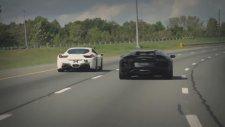 Yasadışı Ferrari 458 Italia vs Lamborghini Aventador LP700 Yarışı