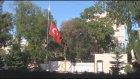 Bişkek Büyükelçiliği'nde bayraklar yarıya indirildi