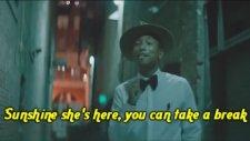 Pharrell Williams - Happy ( Official Music Video With Onscreen Lyrics - Bk)